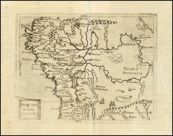 57-South America and Peru & Ecuador Map By Johannes Matalius Metellus
