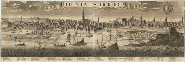 76-Sweden Map By Johann Friedrich Probst