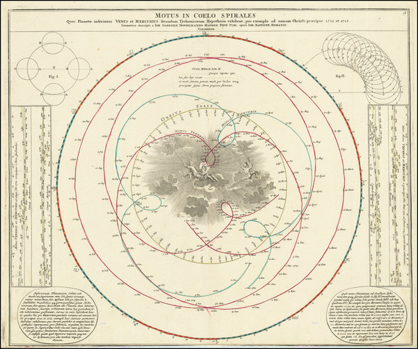 55-Celestial Maps Map By Johann Gabriele Doppelmayr
