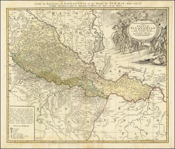 68-Croatia & Slovenia Map By Homann Heirs