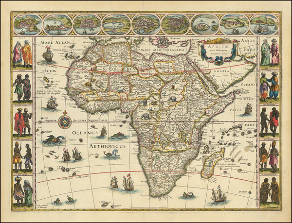 9-Africa Map By Willem Janszoon Blaeu
