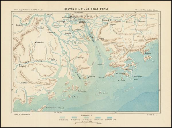 67-China and Hong Kong Map By Leonardo Vallardi