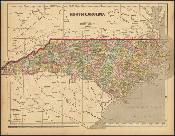 69-North Carolina Map By Charles Morse