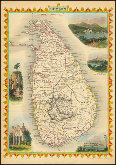 74-Sri Lanka Map By John Tallis
