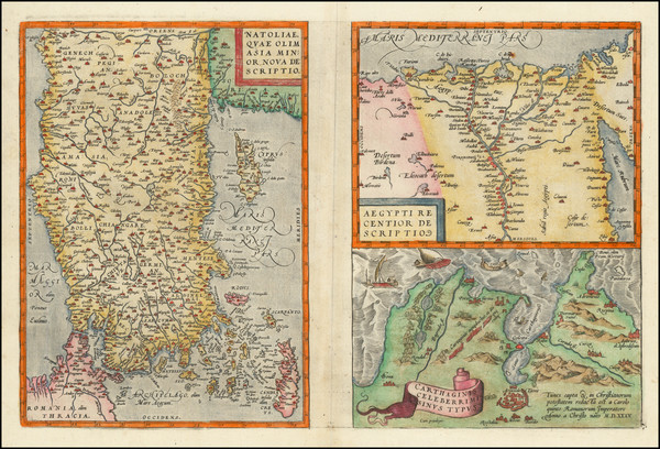 90-Turkey & Asia Minor, Egypt and North Africa Map By Abraham Ortelius