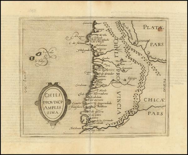 1-Chile Map By Johannes Matalius Metellus