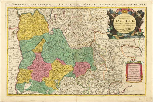 56-France and Sud et Alpes Française Map By Pierre Mortier