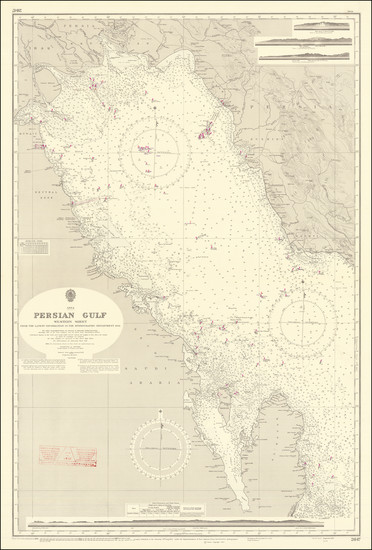 95-Middle East, Arabian Peninsula and Persia Map By British Admiralty