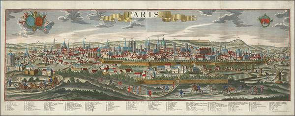 70-Paris and Île-de-France Map By Georg Balthasar Probst