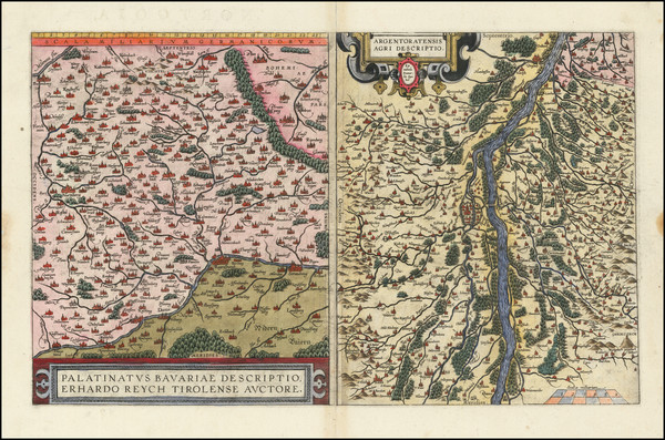 70-France and Germany Map By Abraham Ortelius