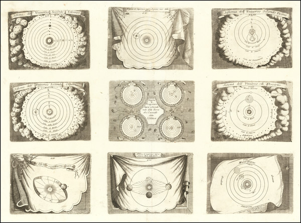 75-Celestial Maps Map By Vincenzo Maria Coronelli