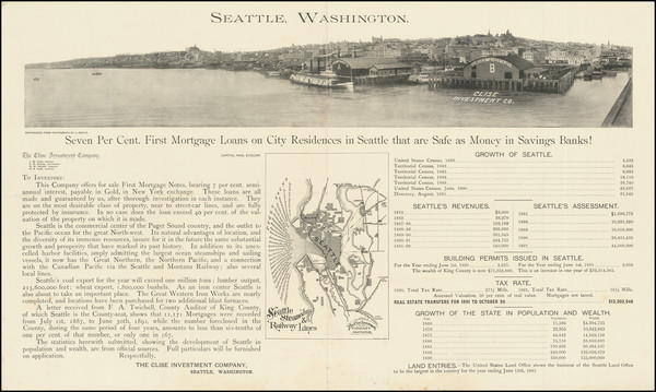 90-Washington Map By The Clise Investment Company