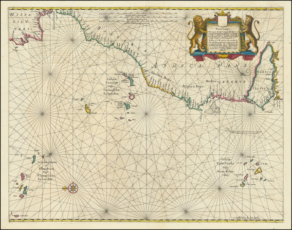 19-Mid-Atlantic, Spain, Portugal, North Africa and West Africa Map By Jan Jansson