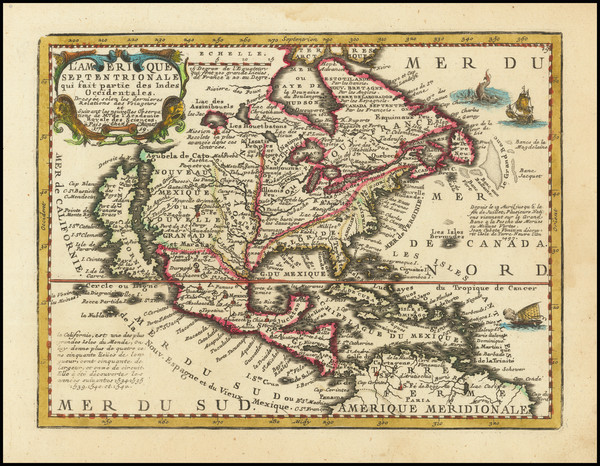 93-North America and California as an Island Map By Jacques Chiquet