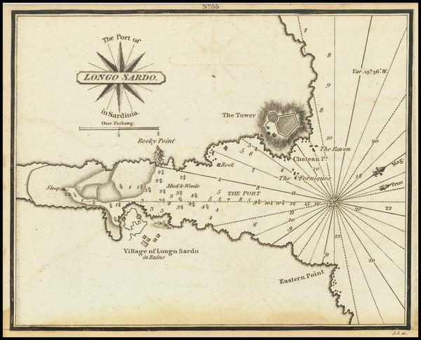 24-Sardinia Map By William Heather