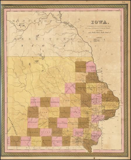 42-Iowa Map By Samuel Augustus Mitchell