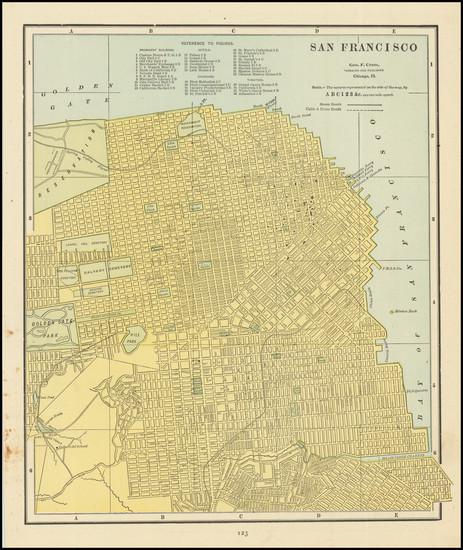 19-San Francisco & Bay Area Map By George F. Cram