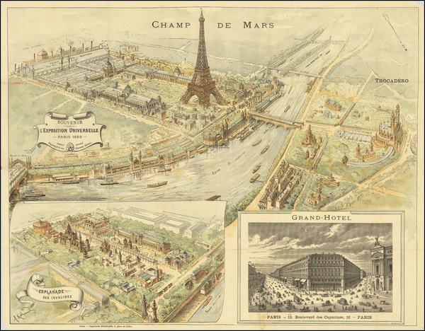 10-Paris and Île-de-France Map By A. Karl / Gillot