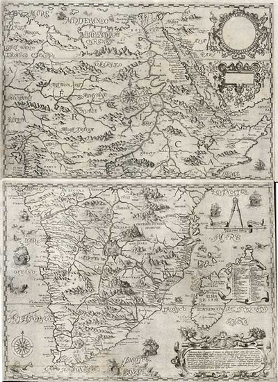 94-Africa, Africa, South Africa and East Africa Map By Theodor De Bry / Filippo Pigafetta