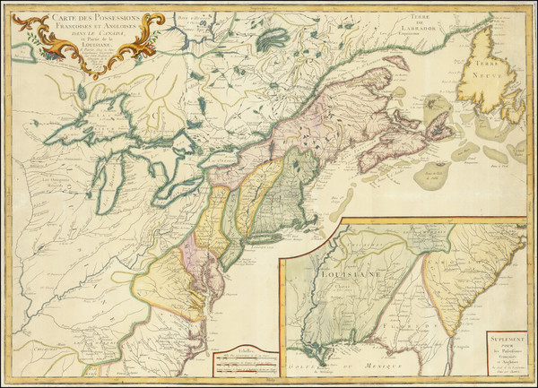 11-United States, New England, Mid-Atlantic, Southeast, Midwest and Canada Map By S.G. Longchamps