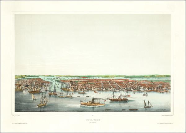 3-New York City Map By Louis Le Breton