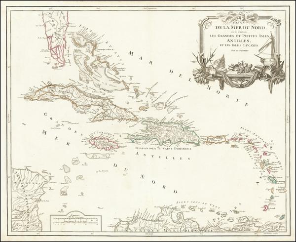 92-Caribbean Map By Didier Robert de Vaugondy