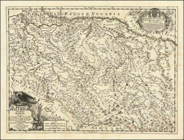 100-Serbia Map By Giacomo Giovanni Rossi - Giacomo Cantelli da Vignola