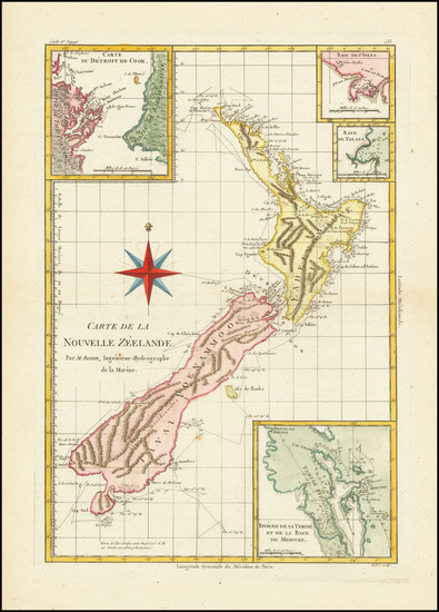 94-New Zealand Map By