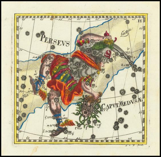 46-Celestial Maps Map By Corbinianus Thomas