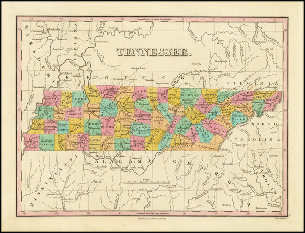 78-Tennessee Map By Anthony Finley