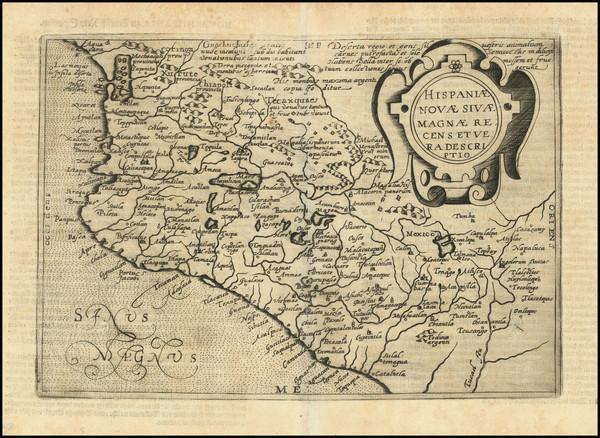 89-Mexico Map By Johannes Matalius Metellus