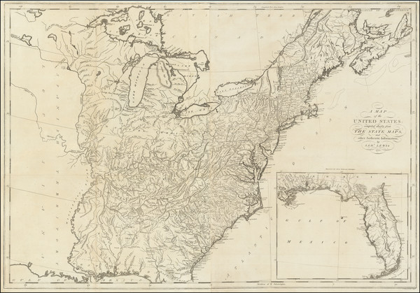 9-United States Map By Mathew Carey