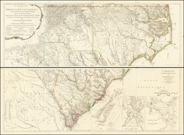 40-Southeast and American Revolution Map By George Louis Le Rouge / Henry Mouzon
