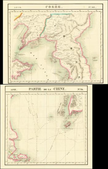 11-Korea Map By Philippe Marie Vandermaelen