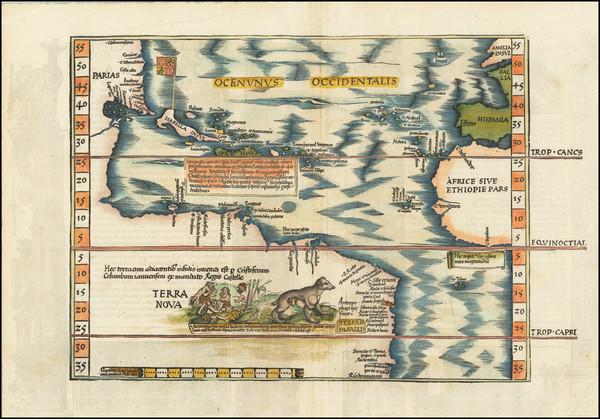 23-Atlantic Ocean, North America, South America and America Map By Lorenz Fries