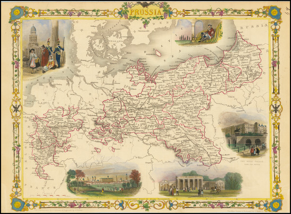 14-Baltic Countries and Germany Map By John Tallis