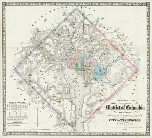 2-Washington, D.C. Map By E.G. Arnold