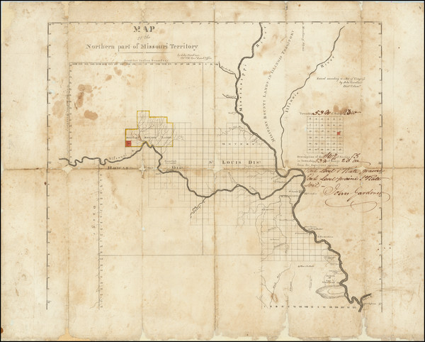 53-Iowa and Missouri Map By John Gardiner