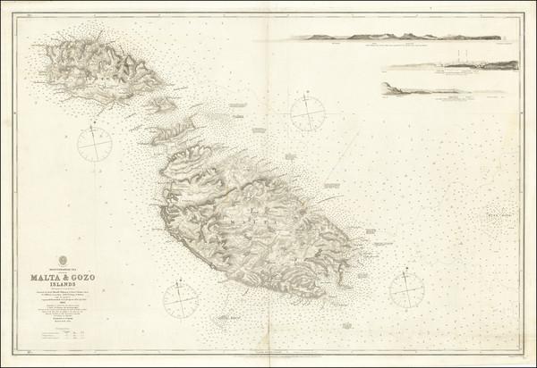 85-Malta Map By British Admiralty