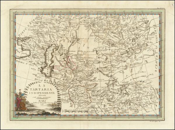16-Central Asia & Caucasus, Persia & Iraq and Russia in Asia Map By Giovanni Maria Cassini