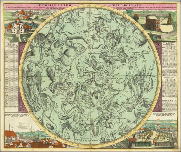 74-Celestial Maps Map By Johann Gabriele Doppelmayr