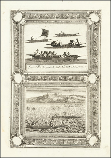 78-Curiosities Map By Vincenzo Maria Coronelli