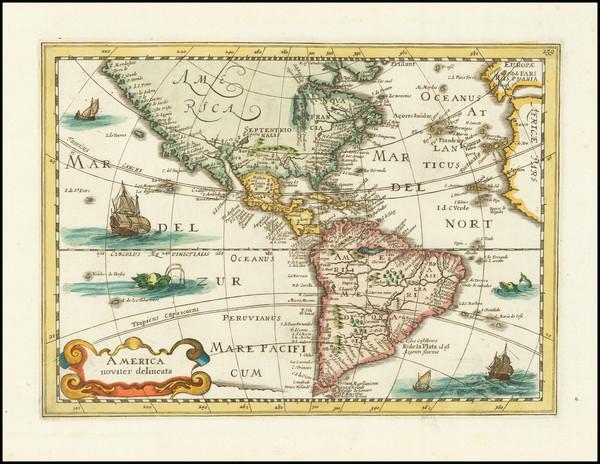 80-America Map By Johannes Cloppenburg