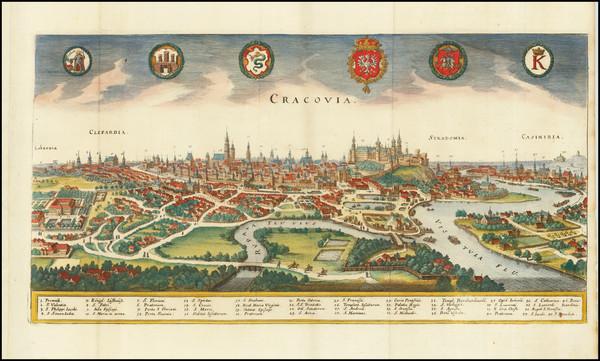 67-Poland Map By Matthaus Merian