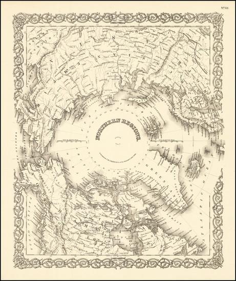 44-Polar Maps Map By Joseph Hutchins Colton
