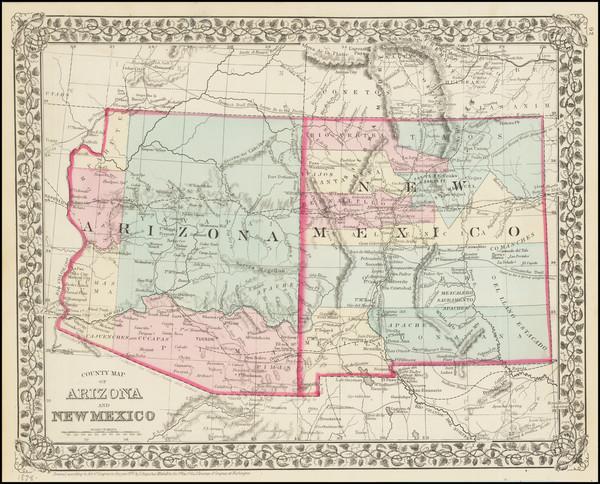 0-Southwest Map By Samuel Augustus Mitchell Jr.