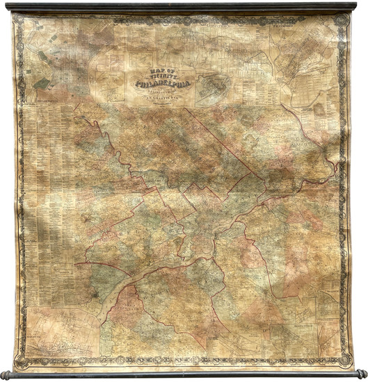5-Philadelphia Map By Gillette & Co. / S. N. Beers / D. J. Lake