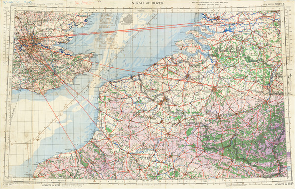 12-England, Belgium and World War II Map By Geographical Section, War Office (UK)