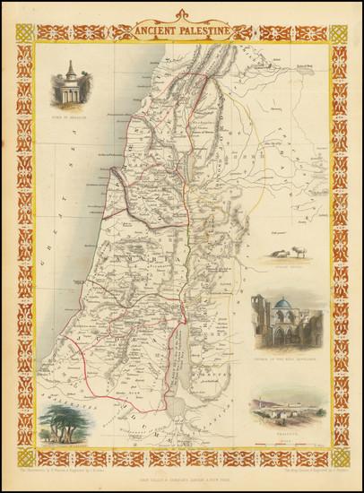 76-Holy Land Map By John Tallis