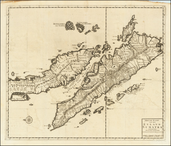 47-Singapore, Indonesia and Malaysia Map By Francois Valentijn